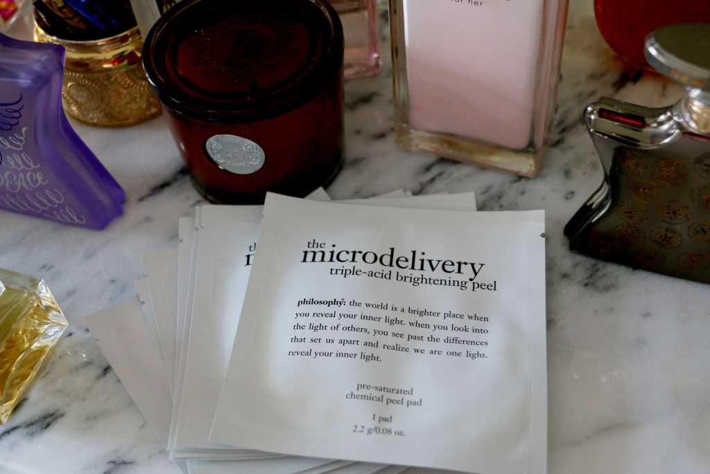 micro delivery triple-acid brightening peel my favorite product to brighten my face and remove dead cells