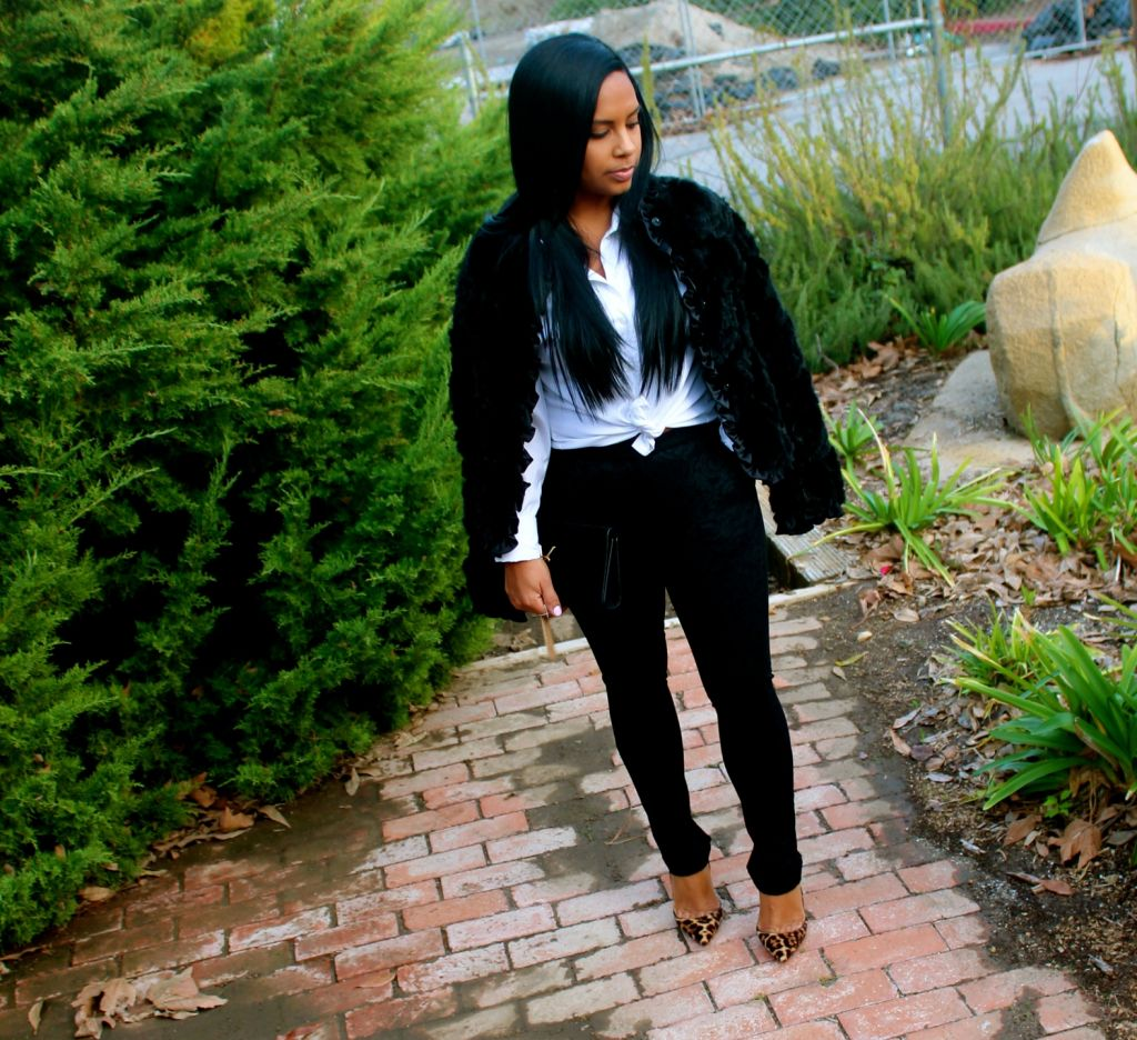 Mink Coat and Leopard Pumps