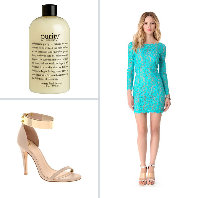 Philosophy Purity, Madison Marcus V Back Lace Dress, ASOS HONG KONG Heeled Sandals