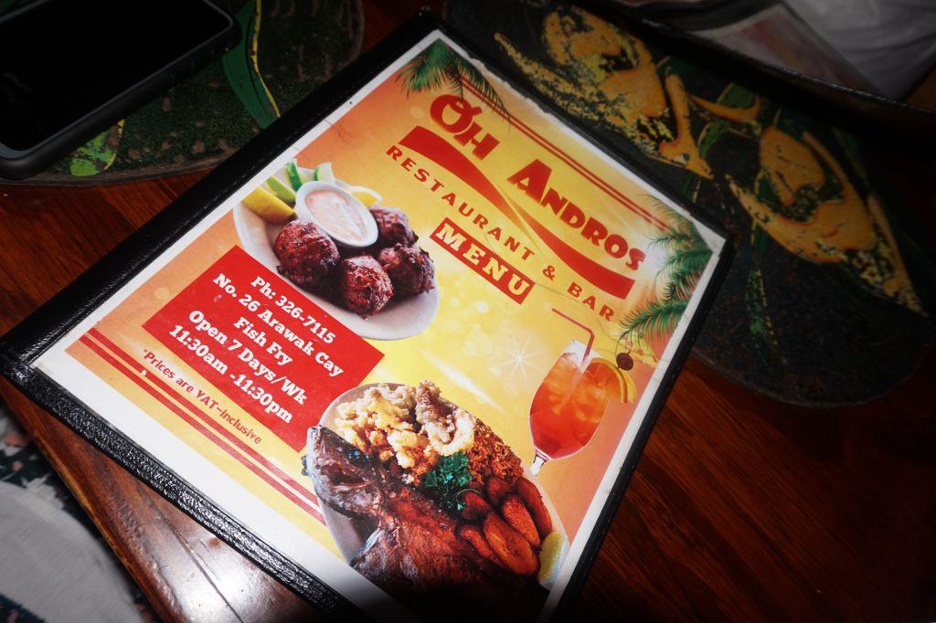 oh andros bahamas food