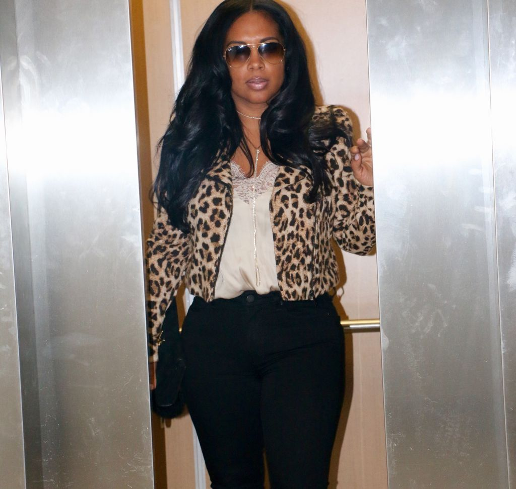 Leopard Motocycle jacket from H&M black fashion blogger