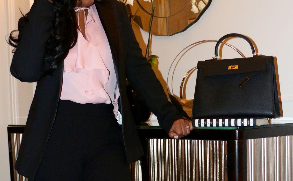 work attire black fashion blogger