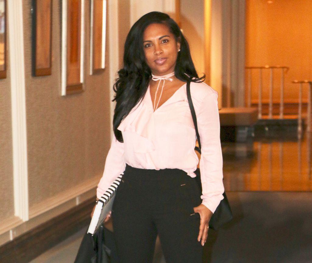 black fashion blogger work attire