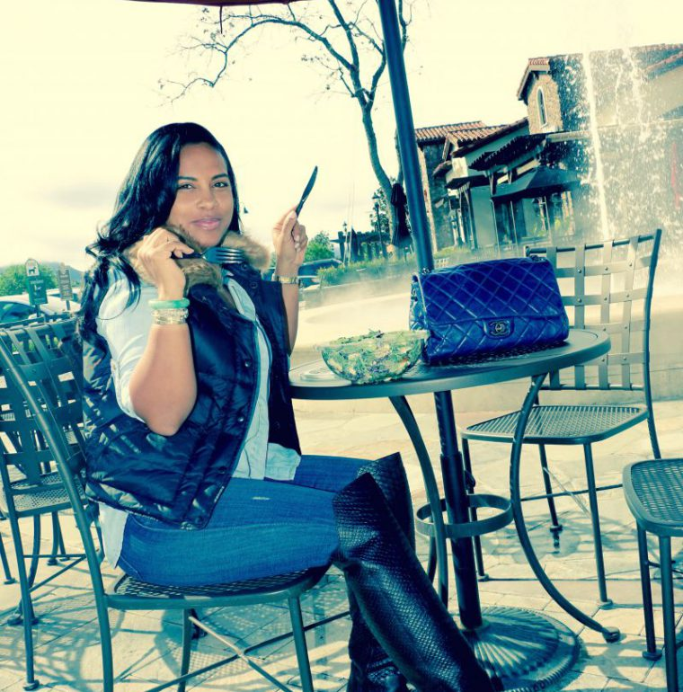 puffer vest black fashion blogger