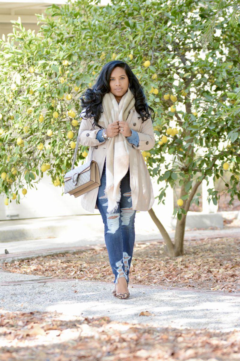 black fashion blogger winter style