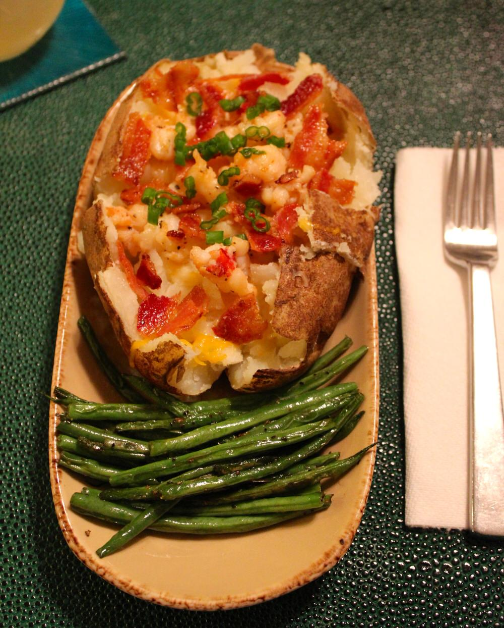 lobster stuffed baked potato