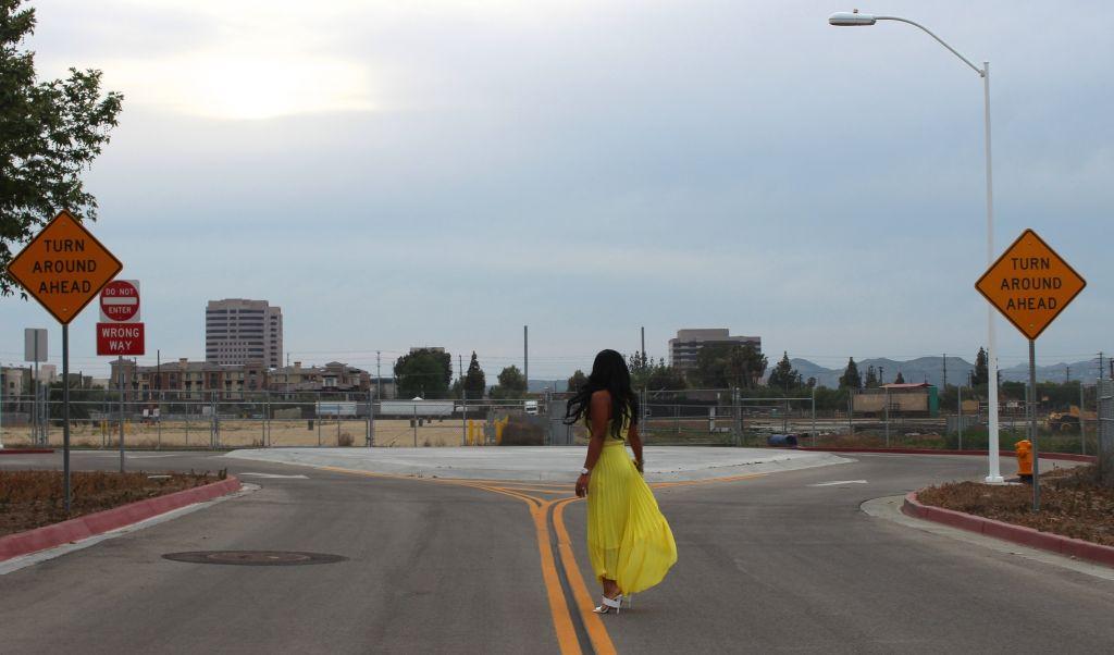 Wearing - Metaphor pleated skirt and tank, Alexander Wang Slide Ins