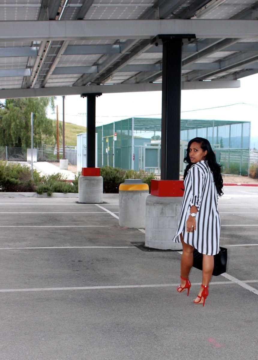 Wearing - F21 Blouse/Dress, Target Shorts, Prada Scalloped Sandals, Chanel Bag